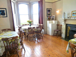 Dining Room at Downhill Beachhouse Accommodation Northern Ireland seats 26+