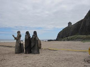 Game of Thrones film set photos from Northern Ireland Downhill beach
