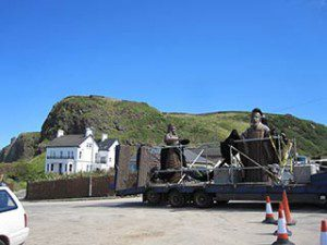 Game of Thrones film location Downhill Northern Ireland 'old gods' being transported